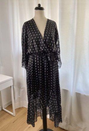 Allyson Collection Midi-jurk zwart-wit Polyester