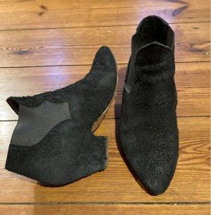 Acne Wciągane buty za kostkę czarny Skóra