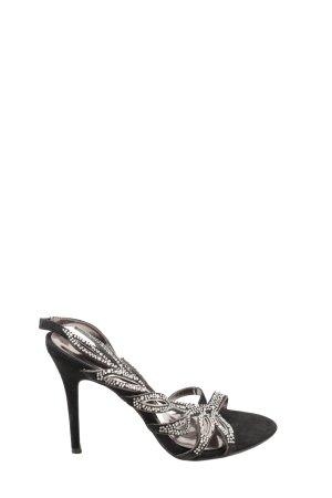 Alma en Pena Hoge hakken sandalen zwart-zilver extravagante stijl