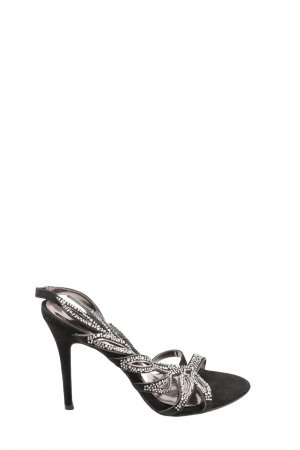 Alma en Pena High Heel Sandal black-silver-colored extravagant style
