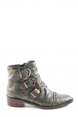 Alma en Pena Short Boots silver-colored-bronze-colored allover print casual look