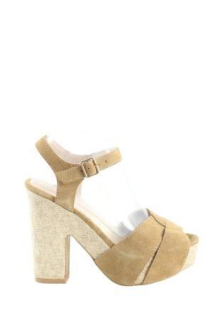 Alma en Pena Platform High-Heeled Sandal cream casual look
