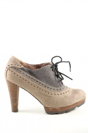 Alma en Pena Platform Booties brown-black casual look