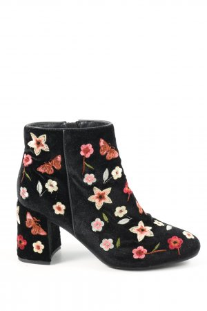 Alma en Pena Zipper Booties flower pattern casual look