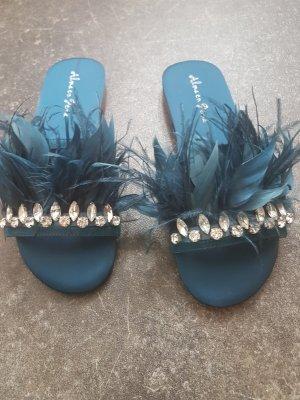 Alma en Pena Strapped Sandals petrol