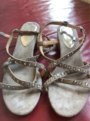 Alma en Pena Sandalen met bandjes grijs-bruin