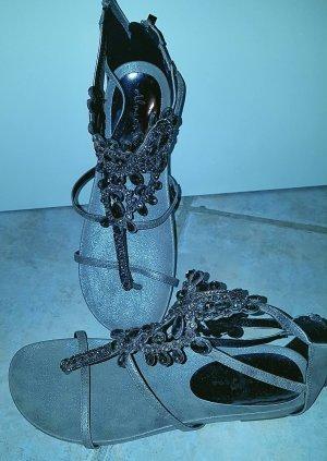 Alma en Pena Dianette sandalen zwart-zilver