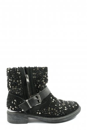 Alma en Pena Ankle Boots black-silver-colored casual look