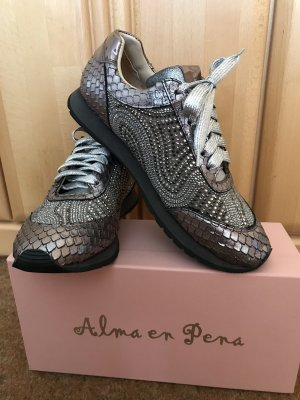 Alma en Pena High Top Sneaker silver-colored