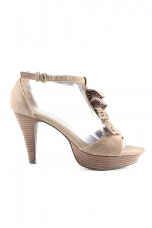 Alma en Pena T-Strap Sandals cream casual look