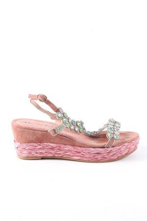 Alma en Pena T-Steg-Sandaletten pink Glanz-Optik