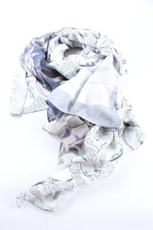 Alma & Lovis Sciarpa estiva bianco-grigio chiaro Stampa a tema stile casual