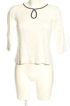 Alma & Lovis T-shirt w kolorze białej wełny-czarny W stylu casual