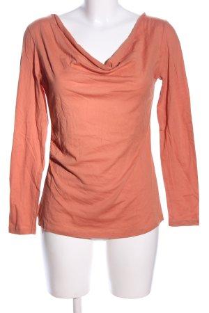 Alma & Lovis Top col bénitier orange clair style décontracté