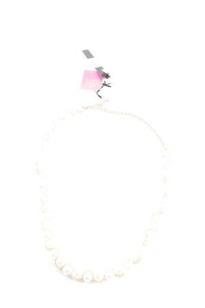 Almagores Halskette goldfarben-weiß Elegant