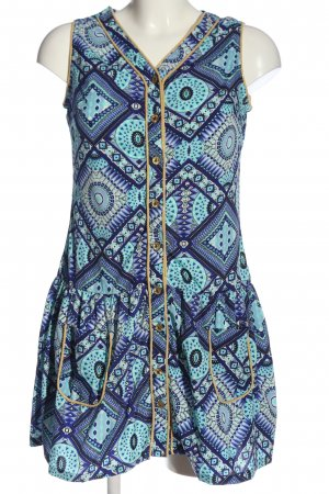 Almatrichi A Line Dress turquoise-blue allover print casual look