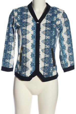 Almatrichi Kardigan biały-niebieski Na całej powierzchni W stylu casual