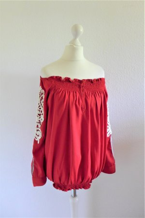 Almatrichi Carmen blouse veelkleurig