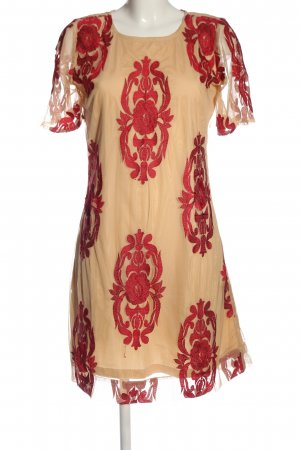 Almatrichi Shortsleeve Dress nude-red allover print casual look