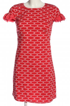 Almatrichi Sukienka z krótkim rękawem czerwony-biały Na całej powierzchni