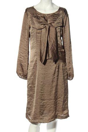 Almatrichi Sukienka z długim rękawem brązowy W stylu casual