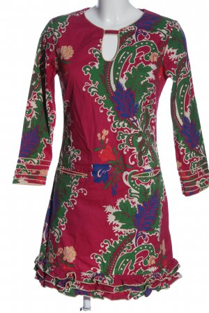 Almatrichi Sukienka z długim rękawem Abstrakcyjny wzór W stylu casual