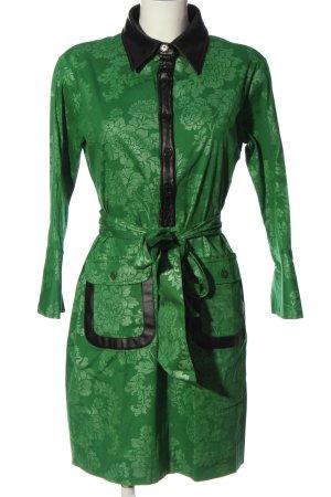 Almatrichi Sukienka z długim rękawem zielony Na całej powierzchni