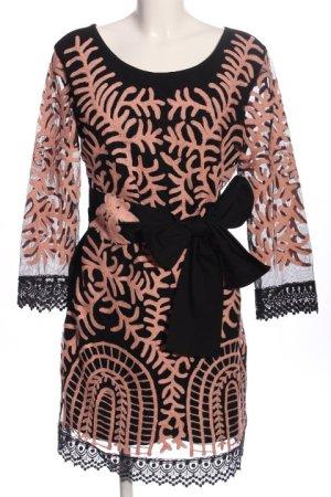 Almatrichi Sukienka z długim rękawem czarny-nude