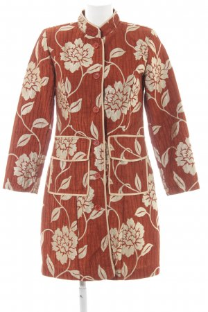 Almatrichi Long Blazer cognac-coloured-gold-colored flower pattern elegant