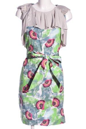 Almatrichi Sukienka koszulowa zielony-różowy Abstrakcyjny wzór W stylu casual