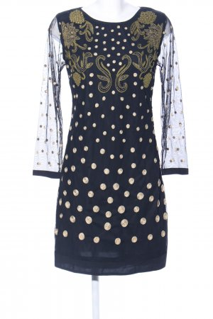 Almatrichi Midi Dress blue-gold-colored abstract pattern party style