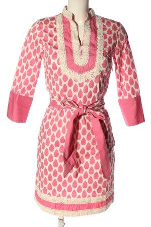 Almatrichi Sukienka mini różowy-biały Graficzny wzór W stylu casual