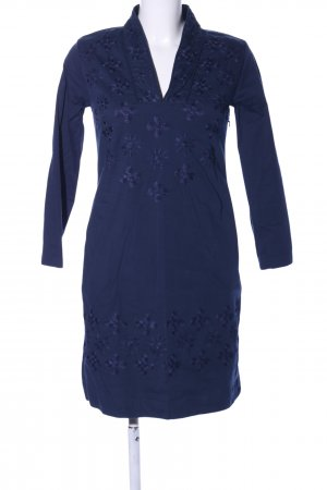 Almatrichi Vestido elástico azul estampado floral elegante