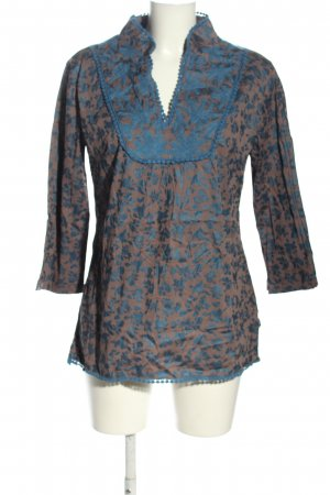 Almatrichi Long Sleeve Blouse green-blue abstract pattern casual look