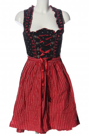 Almenrausch Dirndl black-red allover print casual look