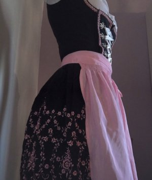 Almenrausch Vestido Dirndl negro-rosa Algodón