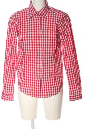 Almenrausch Houthakkershemd rood-wit geruite print zakelijke stijl