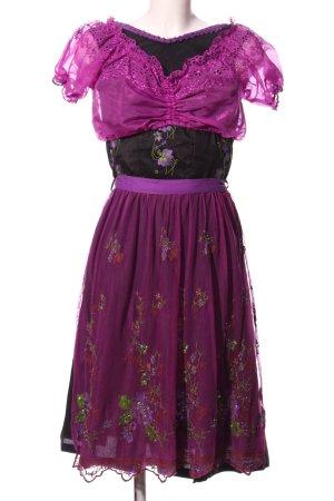 Almenrausch Traje para mujer lila-negro look efecto mojado