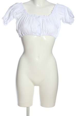 Almenrausch Traditional Blouse white classic style