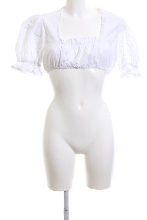 Almenrausch Blouse bavaroise blanc style décontracté