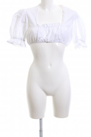 Almenrausch Blusa folclórica blanco look casual