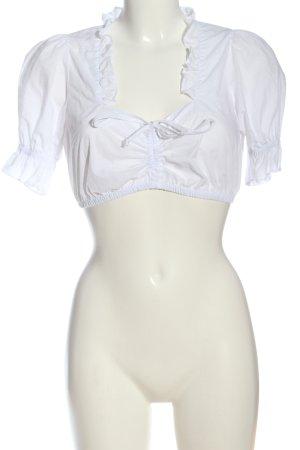 Almenrausch Blouse bavaroise blanc style classique