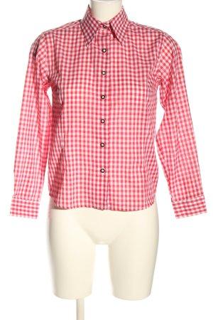 Almenrausch Tradycyjna koszula czerwony-biały Wzór w kratkę W stylu casual