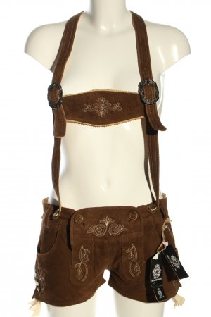Almenrausch Traditional Leather Trousers brown classic style