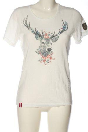 Almgwand Shirt met print prints met een thema casual uitstraling