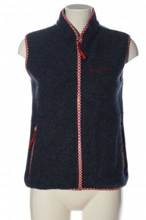 Almgwand Knitted Vest blue flecked casual look