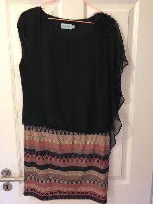 Robe asymétrique multicolore soie