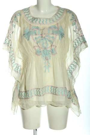 Almost Famous Slip-over blouse room-lichtgrijs abstract patroon