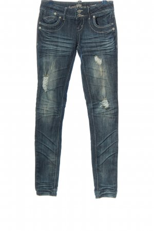 Almost Famous Vaquero skinny azul look casual