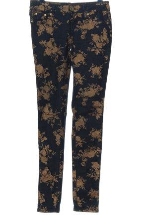 Almost Famous Jeans skinny bleu-brun imprimé allover style décontracté